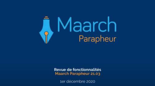 revue de fonctionnalités maarch-parapheur